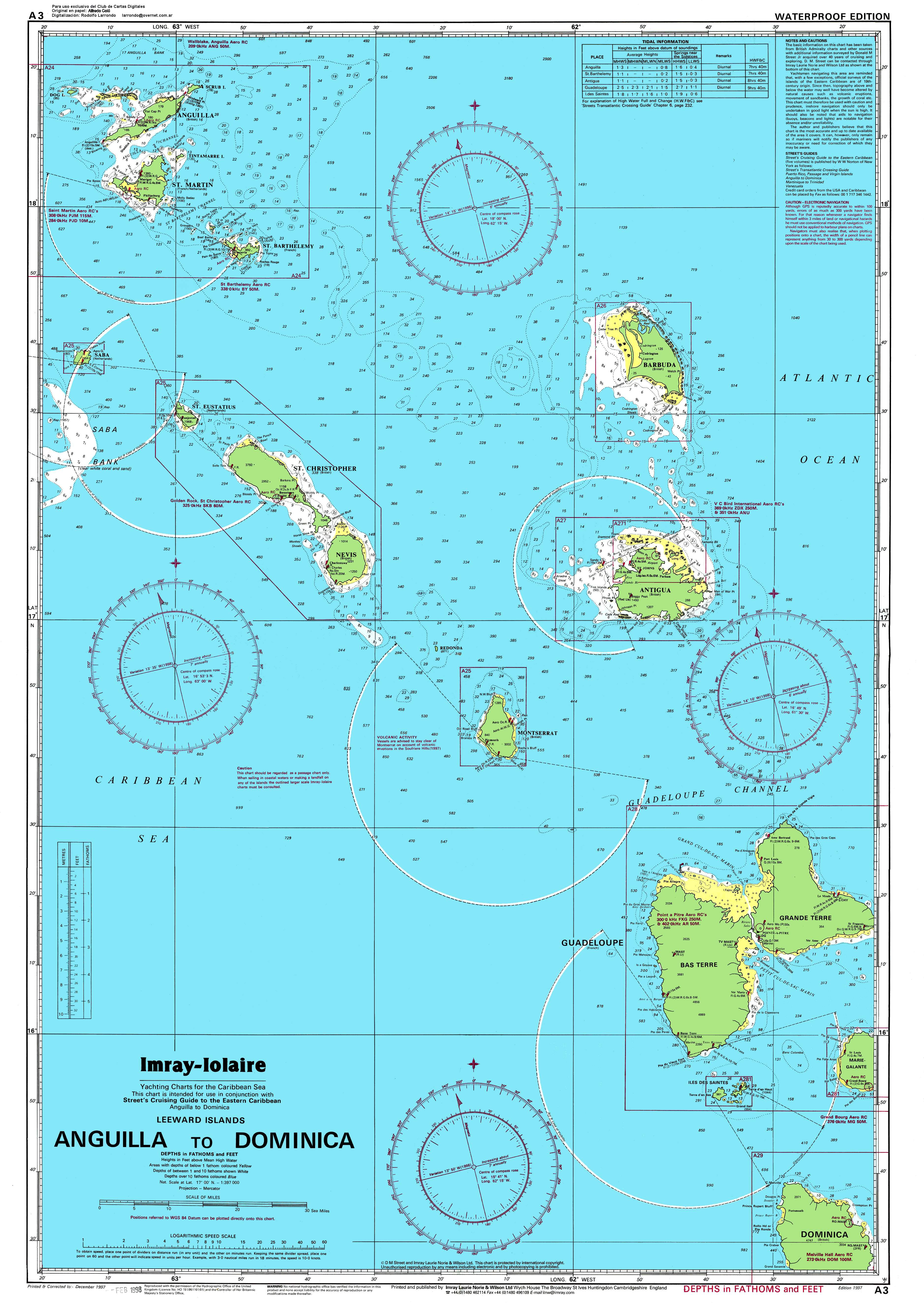 Maps of dominica a link atlas nautc chart of the leeward islands sciox Images