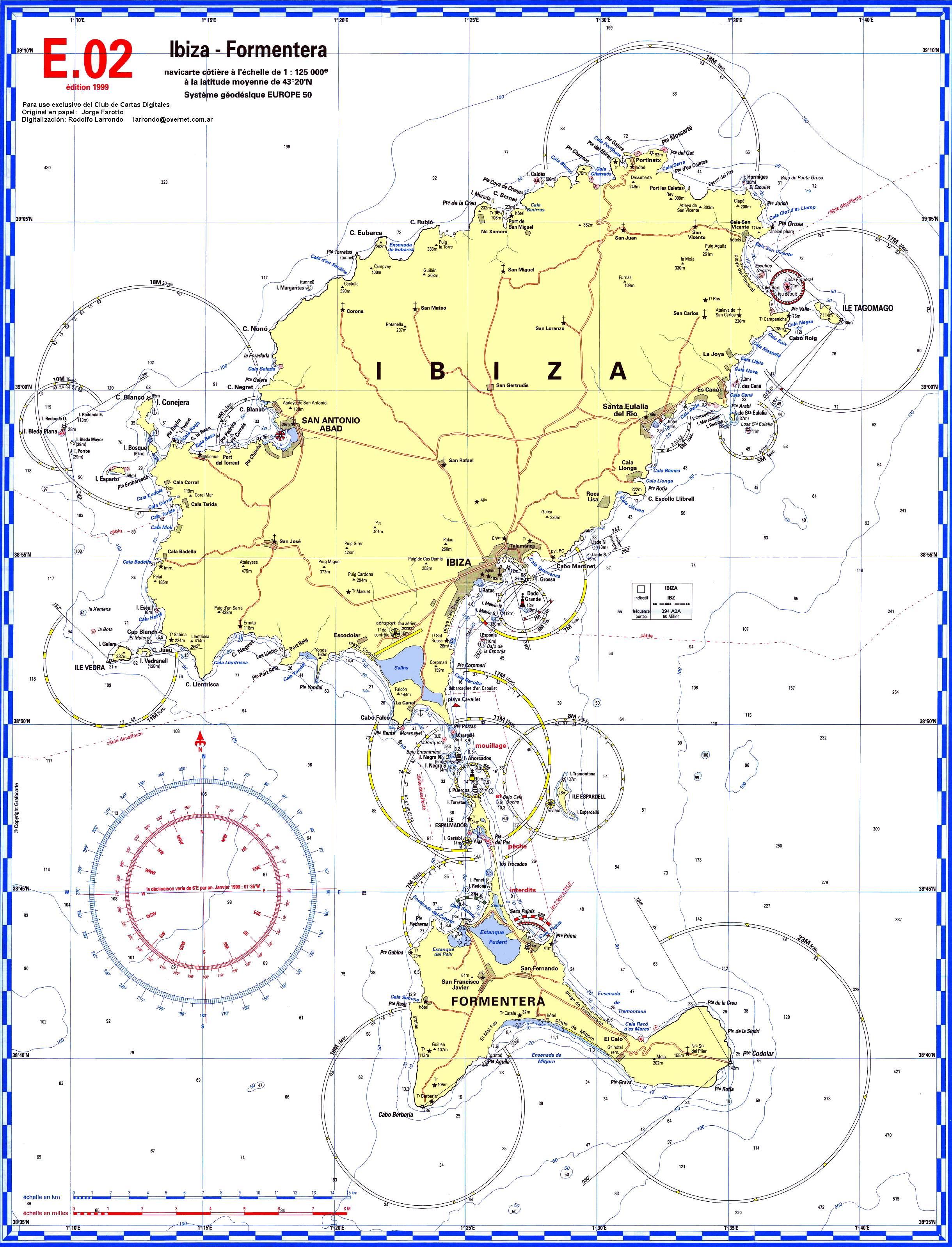 Cartina Geografica Spagna E Formentera.Pianeta Gratis Speciali Carte Nautiche Spagna