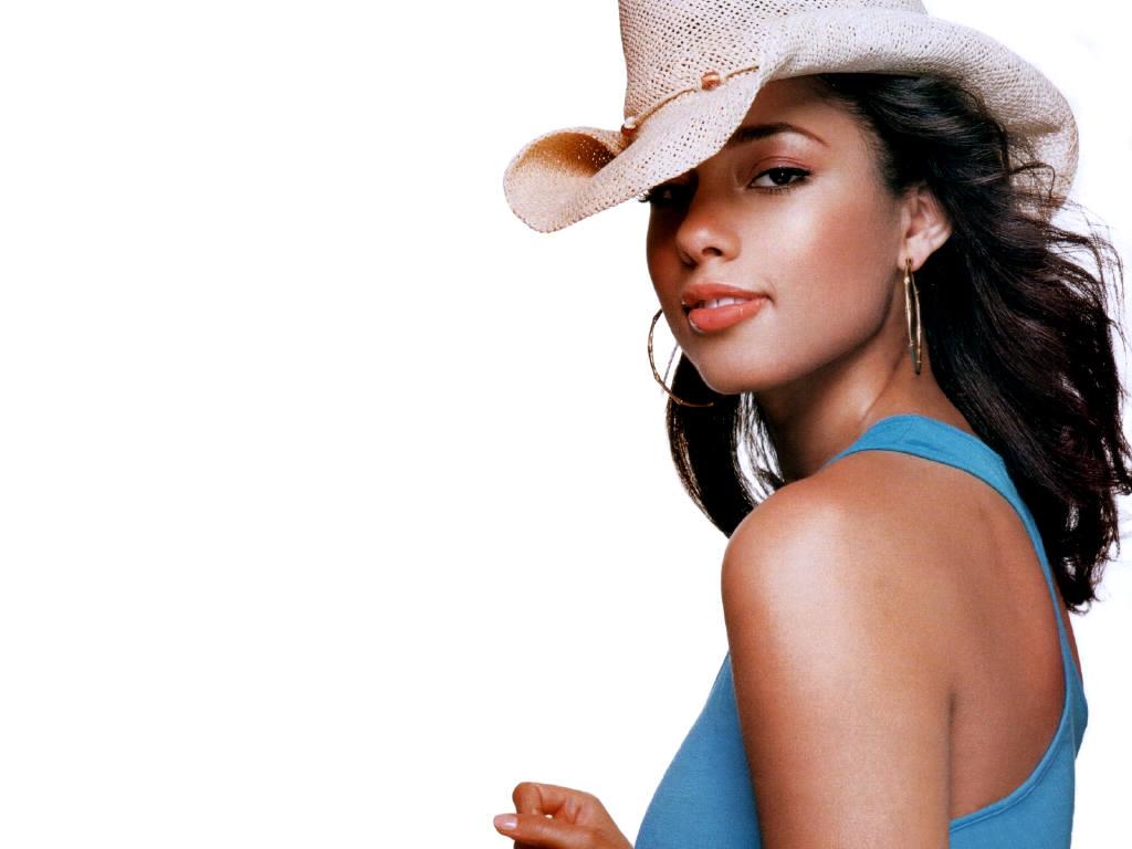 Alicia Keys Cowboy Hat